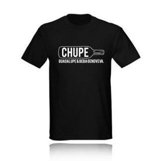 t-shirt CHUPE GUADALUPE Y BEBA GENOVEVA camiseta negra black