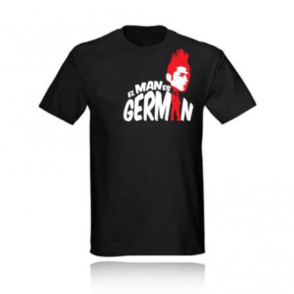 t-shirt CAMISETA EL MAN ES GERMAN black negra