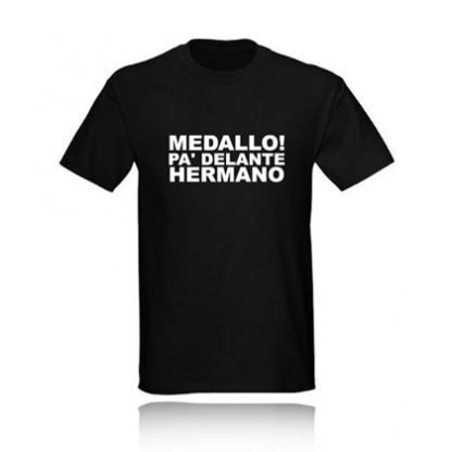 t-shirt medallo pa delante hermano camiseta negra black